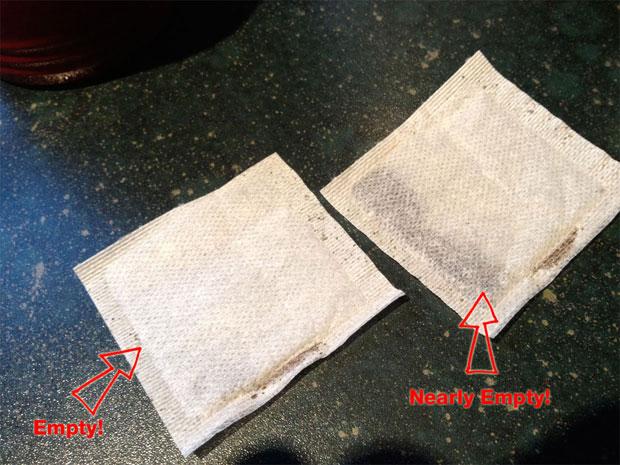 Empty Twinings Tea Bags